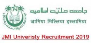 Jamia Milia Islamia University UDC LDC MTS Recruitment 2019