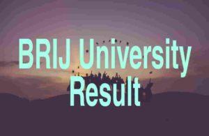 Brij University Result