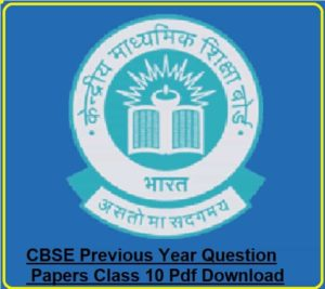 CBSE Previous Year Question Papers Class 10 Pdf Download