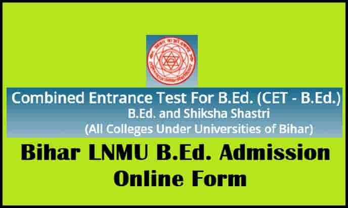 Bihar LNMU BEd Admission Online Form