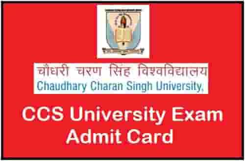 CCS University Exam Admit Card
