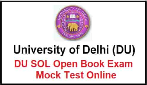 DU SOL Open Book Exam Mock Test Online