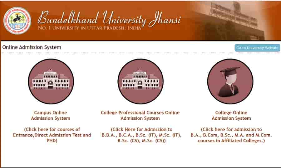 How to Apply Online Bundelkhand University Admission Form 2020