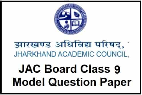 JAC Board Class 9 Model Question Paper