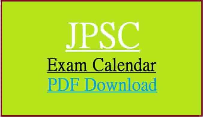 JPSC Exam Calendar