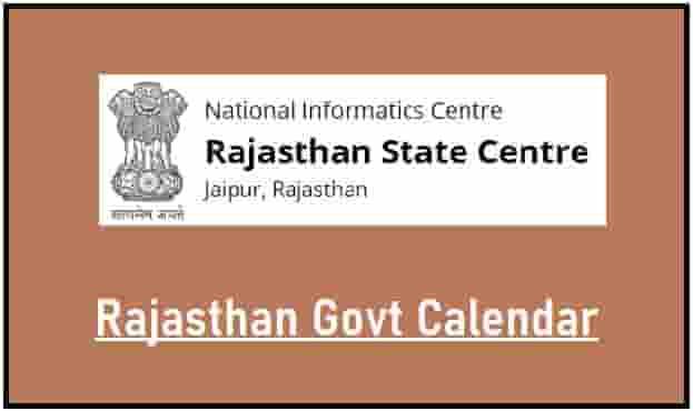 Rajasthan Govt Calendar