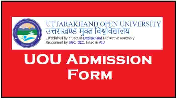 Uttarakhand Open University Admission Online Form